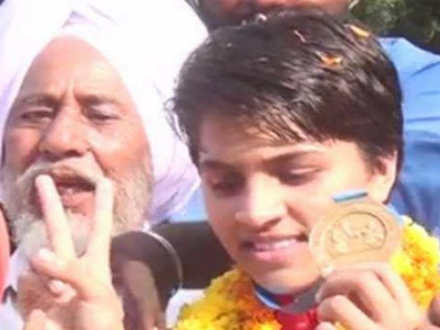 Sandeep Kaur, the daughter of Auto-driver, rides high on gold.