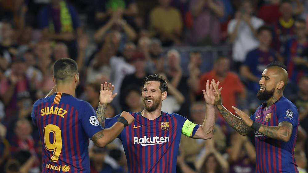 Champions League: Messi's triple treat against PSV fires a victory for Barcelona.