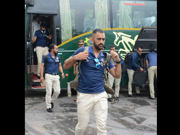 Team India made to wait outside the Visakhapatnam Airport.