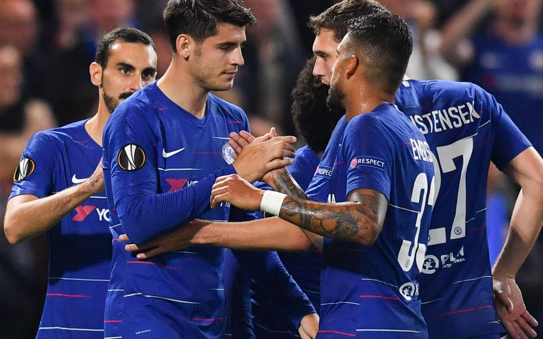 Europa League- Alvaro Morata breaks goal duck securing Chelsea victory!