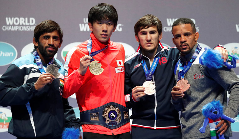 "Bajrang Punia: ""I guess I've to be satisfied with a silver medal."""