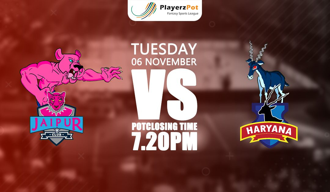 PlayerzPot Kabaddi Prediction: Jaipur vs Haryana | Match 50