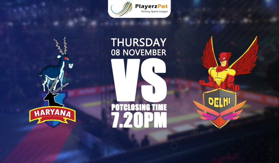 PlayerzPot Kabaddi Prediction: Haryana vs Delhi | Match 52