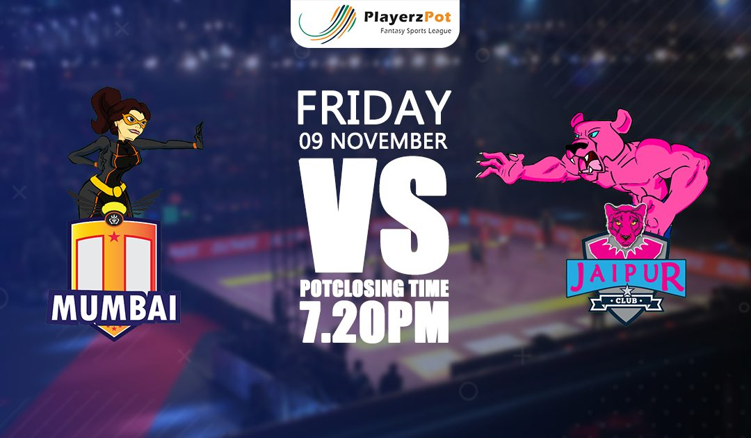 PlayerzPot Kabaddi Prediction: Mumbai vs Jaipur | Match 54