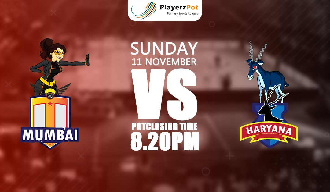 PlayerzPot Kabaddi Prediction: Mumbai vs Haryana | Match 59