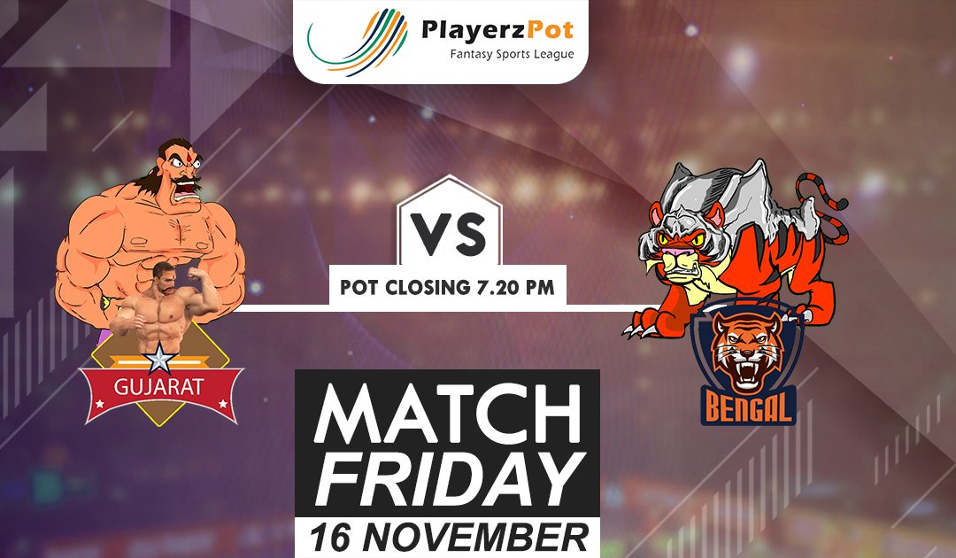 PlayerzPot Kabaddi Prediction: Gujarat vs Bengal | Match 66