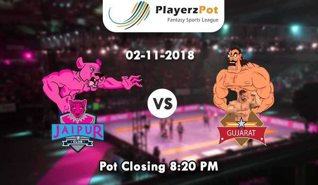 PlayerzPot Kabaddi Predictions: Gujarat vs Jaipur | Match 44