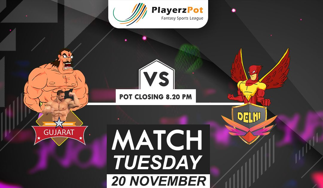 PlayerzPot Kabaddi Prediction: Gujarat vs Delhi | Match 73