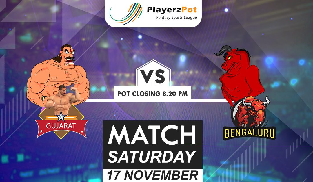 PlayerzPot Kabaddi Prediction: Gujarat vs Bengaluru | Match 69