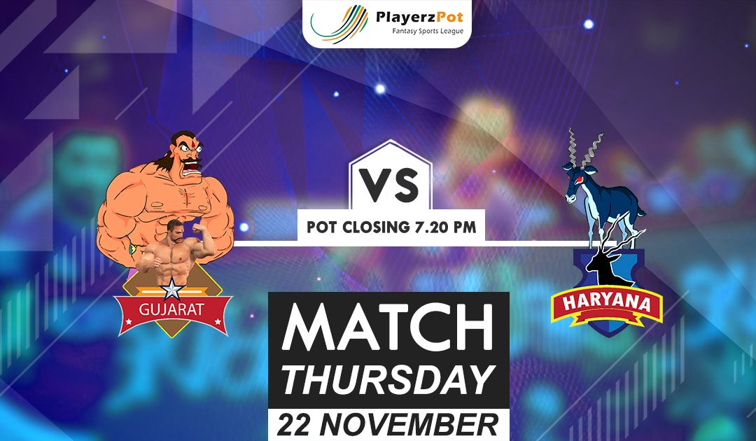 PlayerzPot Kabaddi Prediction: Gujarat vs Haryana | Match 76