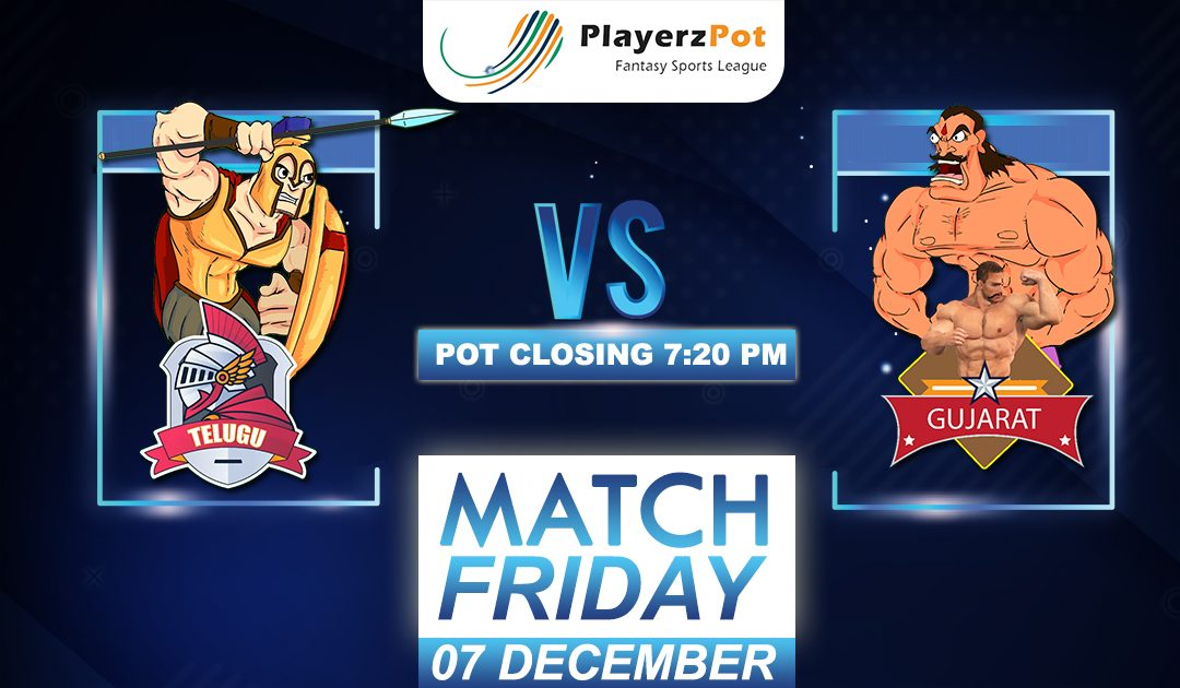 PlayerzPot Kabaddi Prediction: Telugu vs Gujarat | Match 100 |