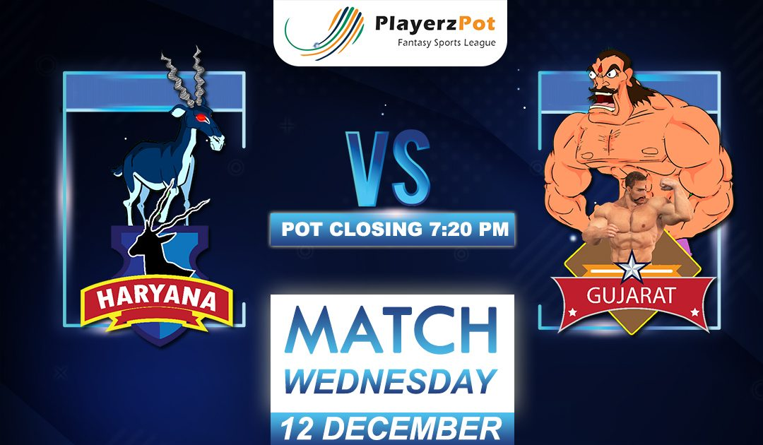 PlayerzPot Kabaddi Prediction: Gujarat vs Haryana | Match 108 |
