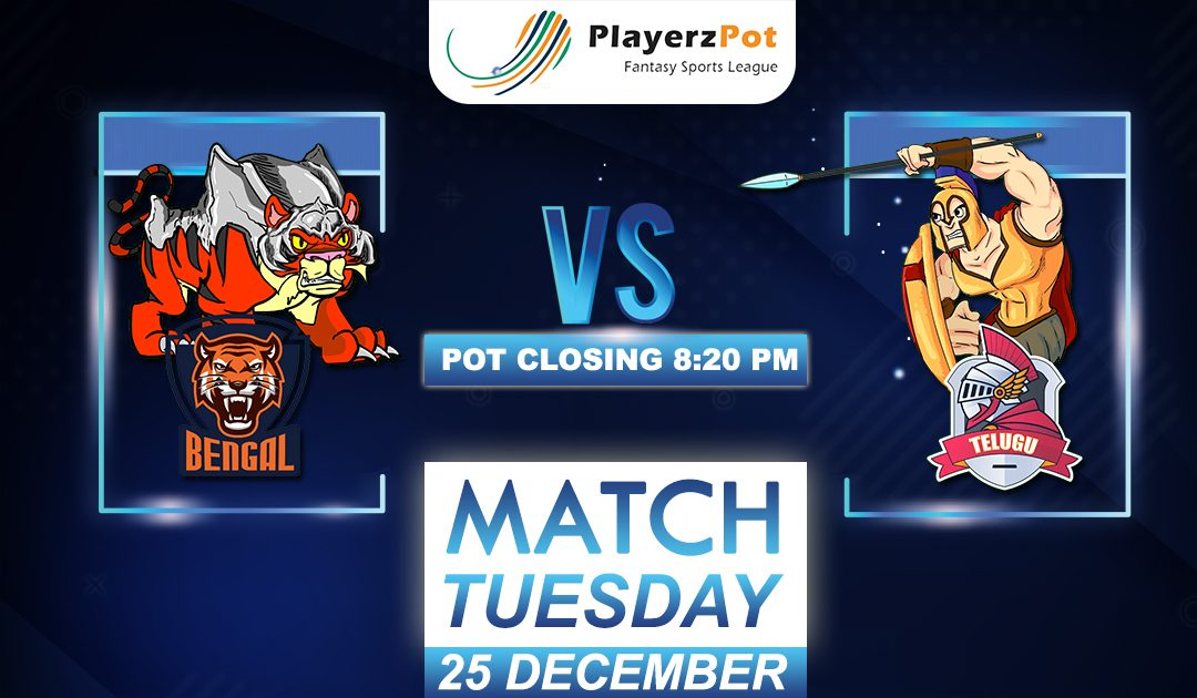 PlayerzPot Kabaddi Prediction: Bengal vs Telugu | Match 128 |