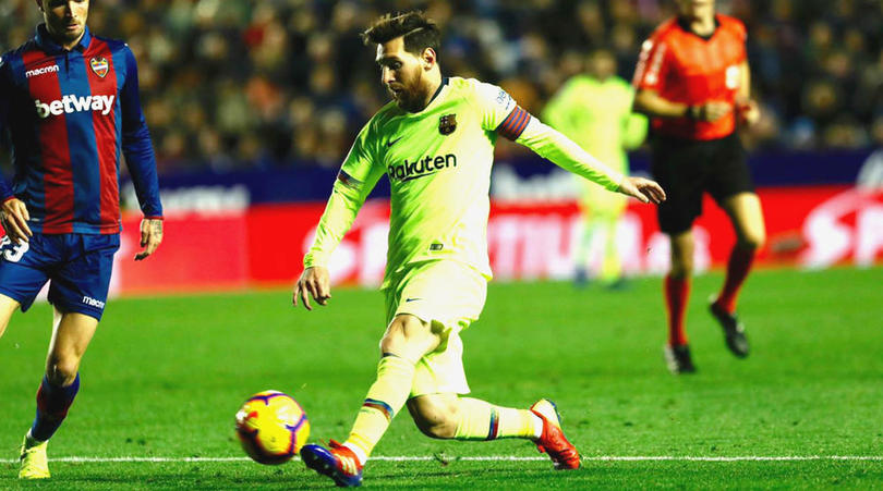 Messi saves Barca with a hatrick; puts'em back to La Liga's lead.