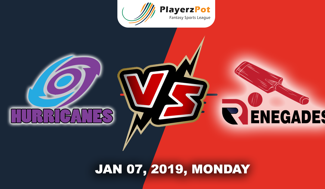 Melbourne Renegades Vs Hobart Hurricanes |Match 23| Big Bash Cricket