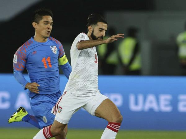 AFC Asia Cup : UAE beats India 2-0 to lead the Asian Cup Group