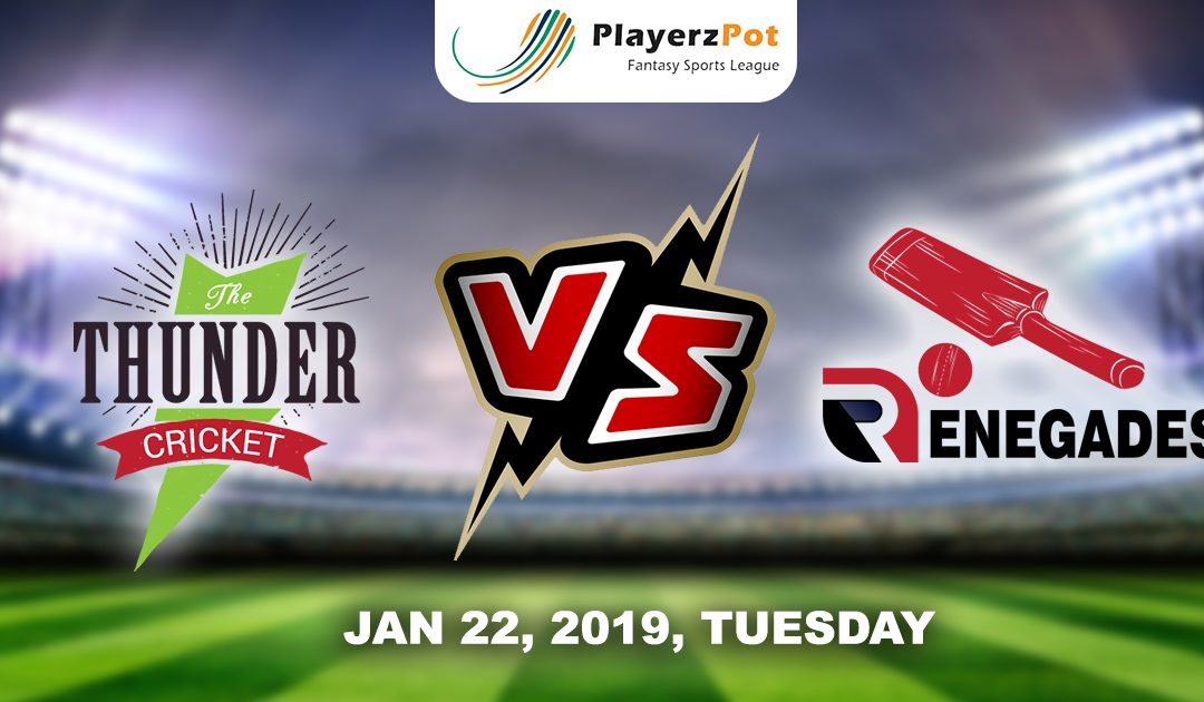 PlayerzPot Cricket Prediction: Sydney Thunders vs Melbourne Renegades | Match 38