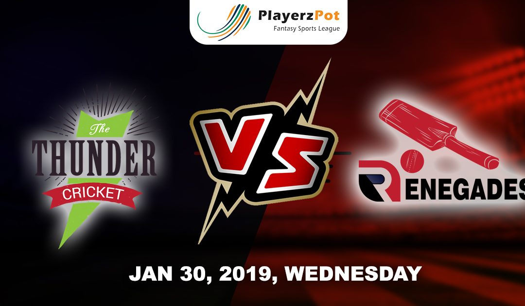PlayerzPot Cricket Prediction: Melbourne Renegades vs Sydney Thunders | Match 46