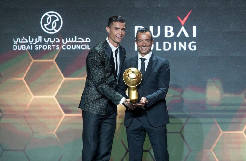 Cristiano Ronaldo wins the best player Globe Soccer Award