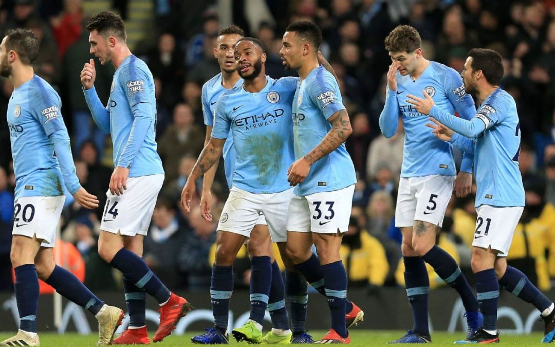 Manchester City brush aside 10-man Wolves to cut the gap at the top