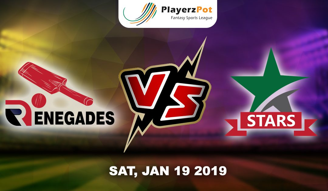 PlayerzPot Cricket Predictions: Melbourne Stars Vs Melbourne Renegades | Big Bash League |