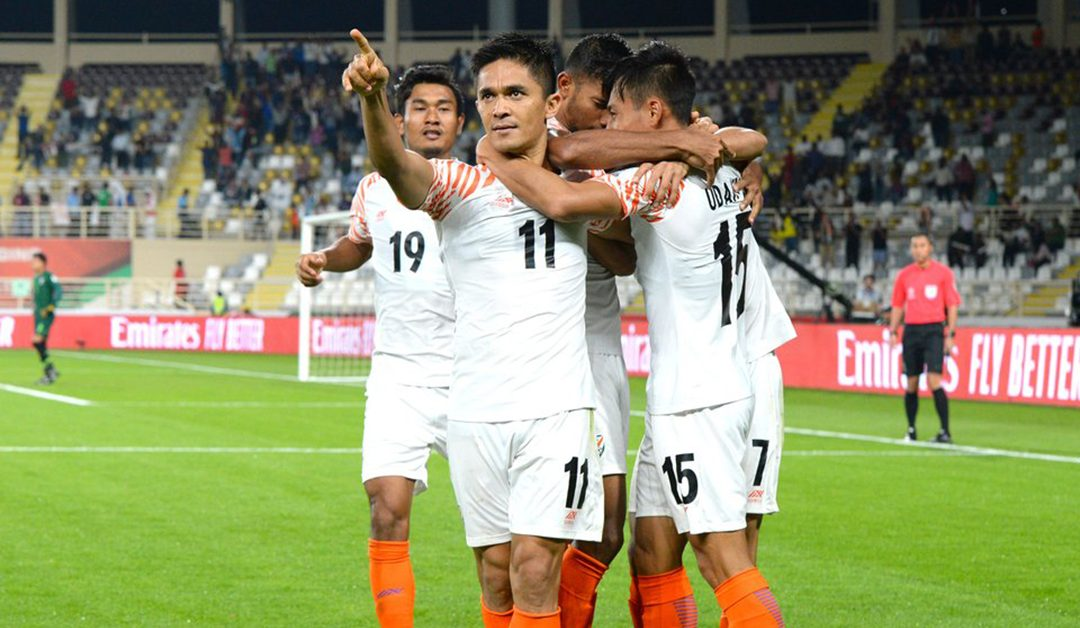 AFC Asia Cup: Sunil Chhetri strikes twice, goes past Messi