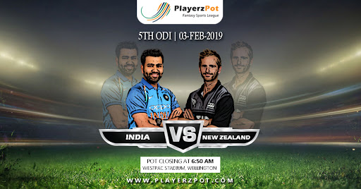 PlayerzPot Cricket Prediction: India vs New Zealand | 5th ODI |