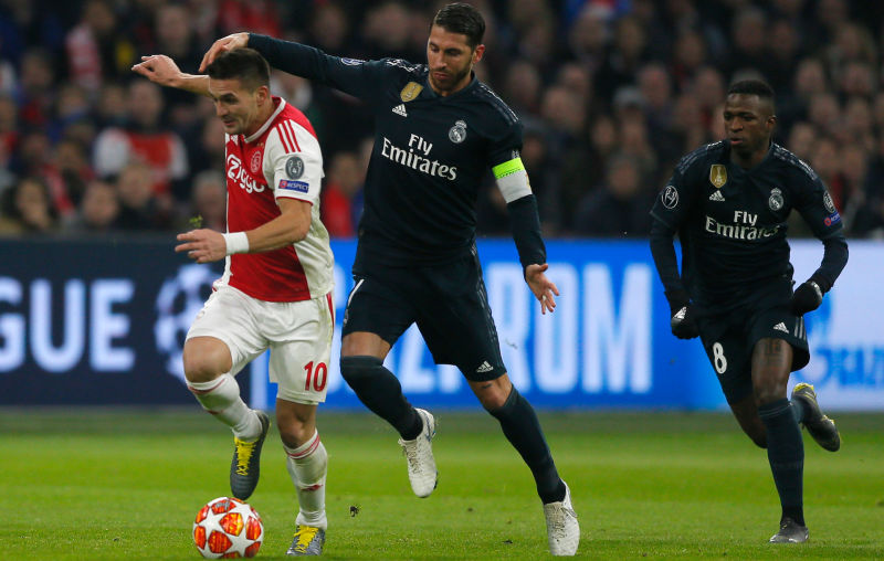 Sergio Ramos denies he got a yellow card on purpose against Ajax