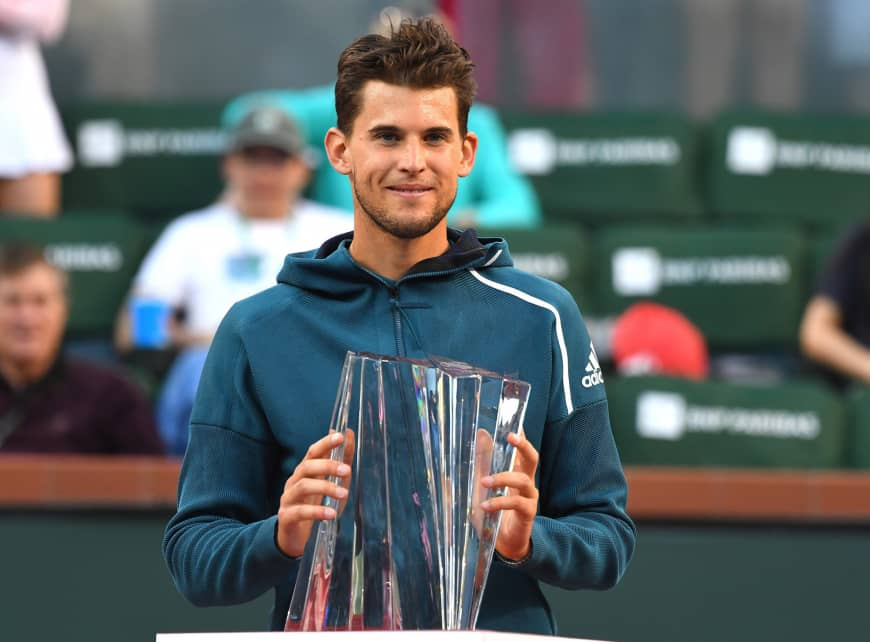 Indian Wells: Dominic Thiem beats Federer to win the title!