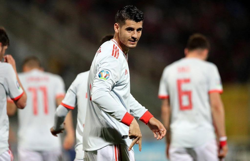 Morata double gives Spain victory over Malta.