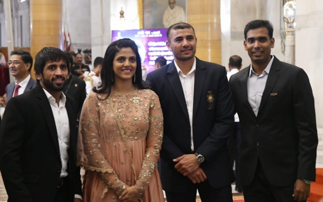 Padma Awards 2019: Bajrang Punia, Ajay Thakur, Sharath Kamal conferred with honor.