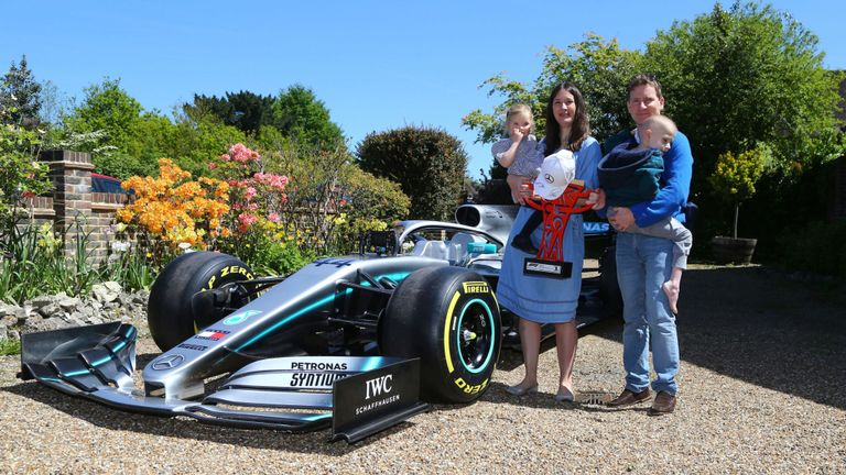 Mercedes sent F1 car to the cancer-stricken boy who inspired Hamilton!