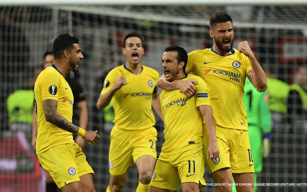 Chelsea set Europa League record after semi-final draw with Frankfurt