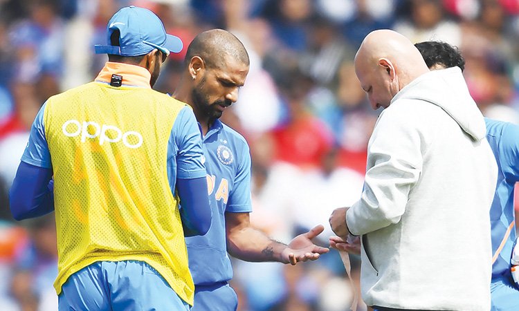 Shikar Dhawan ruled out of ICC World Cup 2019 for 3 weeks
