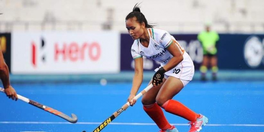 Lalremsiami returns home after winning FIH Women's Series Finals.