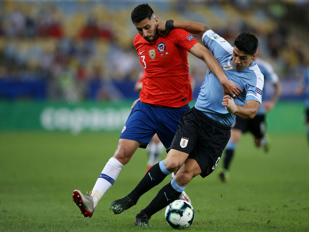 Uruguay beat Chile clinching the top spot of Group C: Copa America