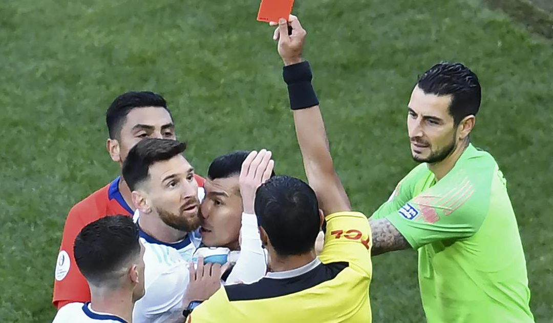 Lionel Messi faces ban and fine for Copa America red card