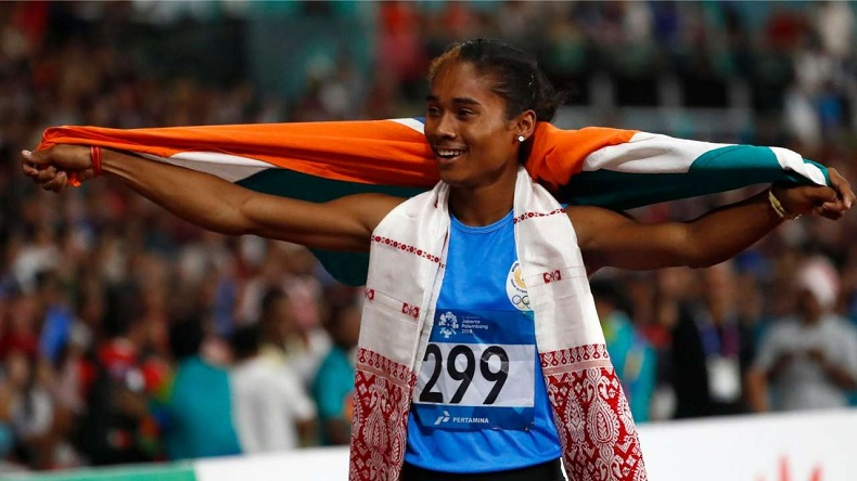 Hima Das sprints into fourth gold in 15 days in the Tabor Athletics meet
