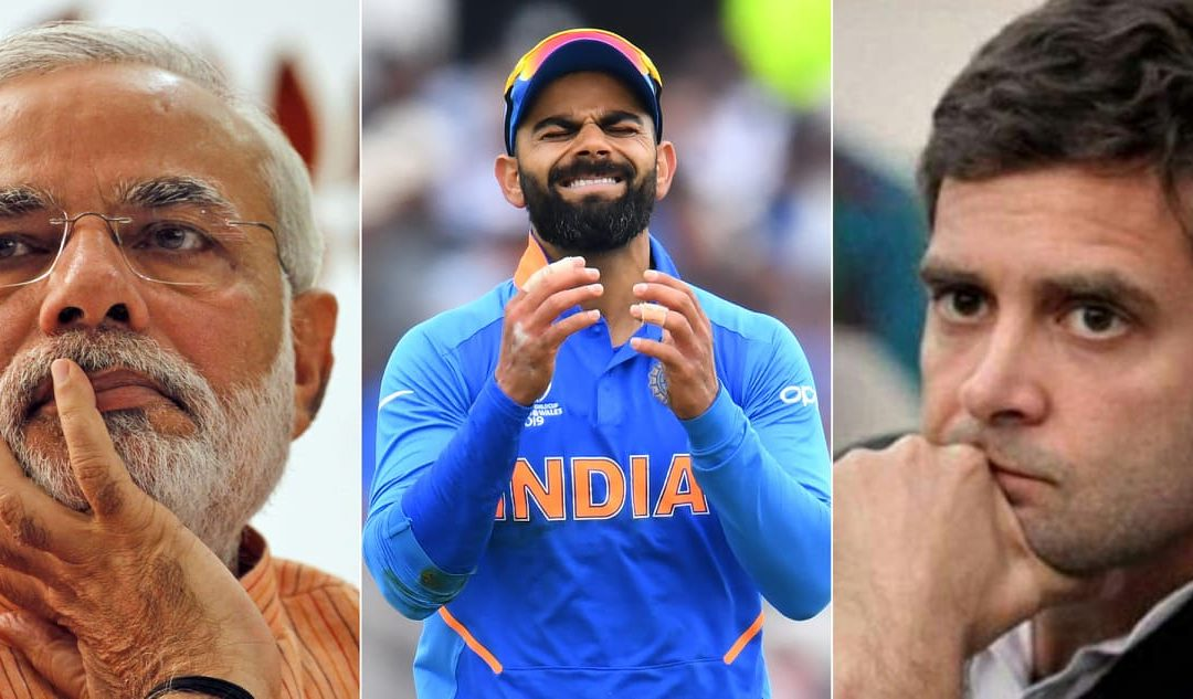 PM Narendra Modi reacts after the disappointing loss of India