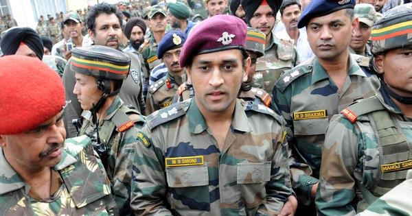 Lt Col.MS Dhoni spotted playing volleyball with Territorial Army battalion