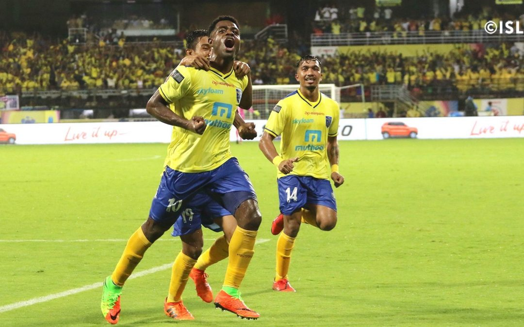 Kerala down Kolkata powered by Ogbeche brace