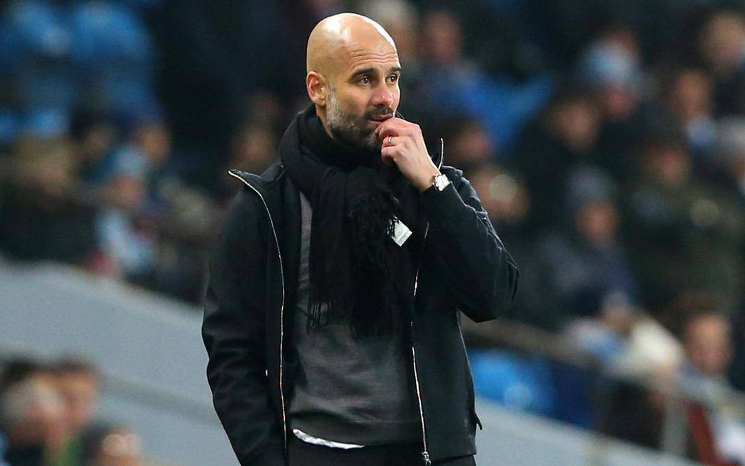 Guardiola admits Man City struggling to match elite clubs.